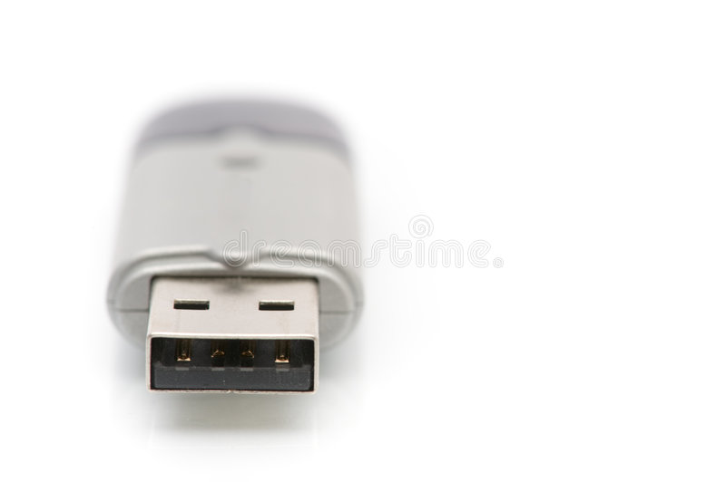 Usb memory stick. Isolated on the white background stock photography