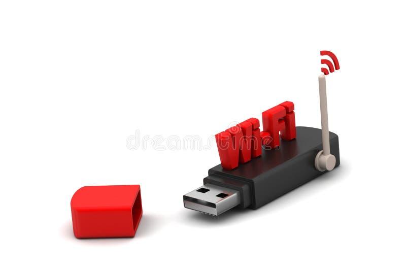 Usb met Internet-verbinding royalty-vrije illustratie