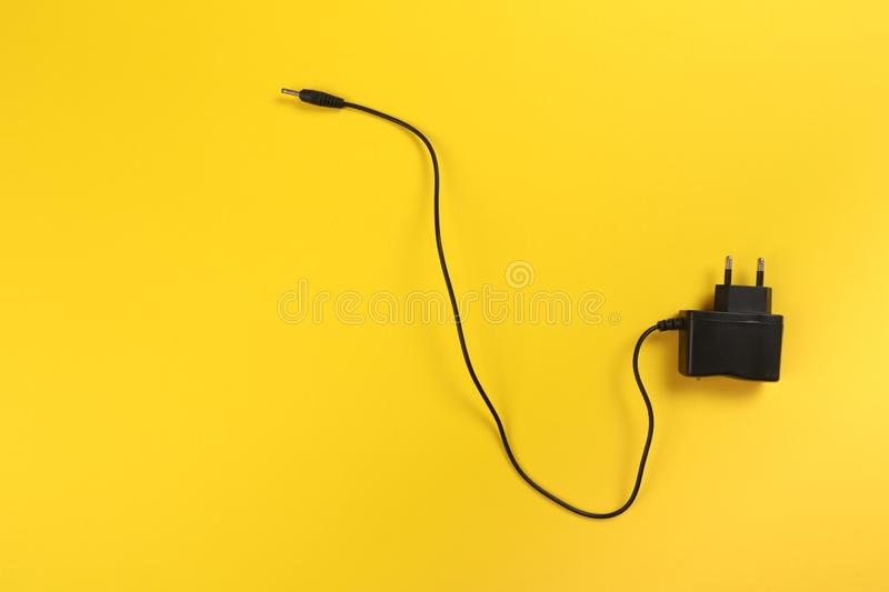 USB Micro cables ob pastel colour background. Connectors and sockets for PC and mobile devices - Image. Cables ob pastel colour background. Connectors and stock image