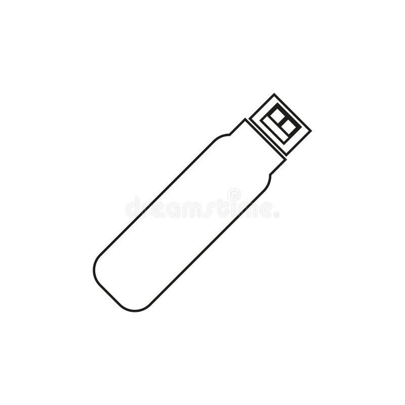 Usb pamięci ikona ilustracja wektor