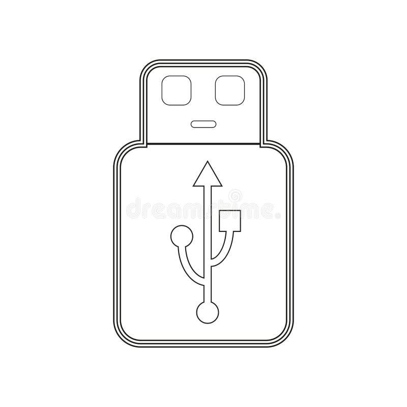 USB pamięci kontur royalty ilustracja