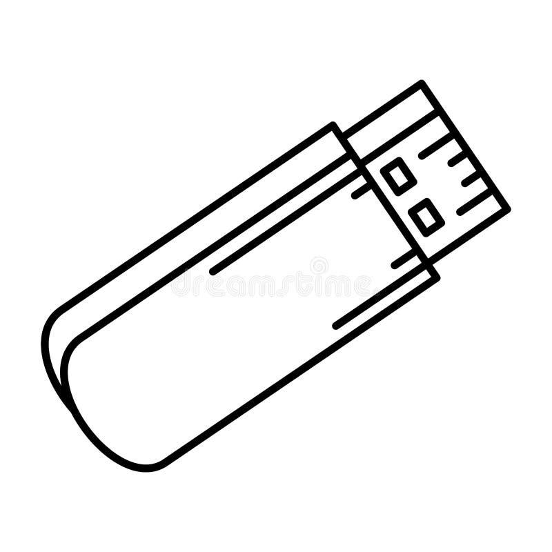 usb pamięci odosobniona ikona ilustracja wektor