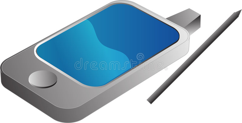 USB Pendrive illustration. PDA Phone illustrtation, 3d isometric style Vector illustration available for download. ==> Click here for more vectors stock illustration