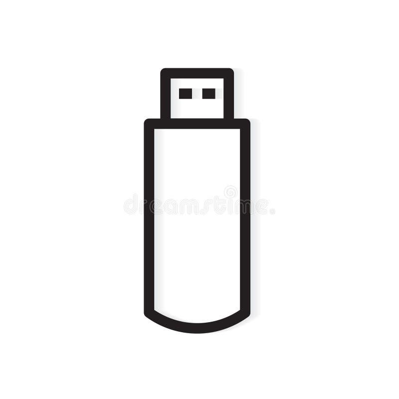 USB pióra przejażdżki błyskowej pamięci ikona royalty ilustracja