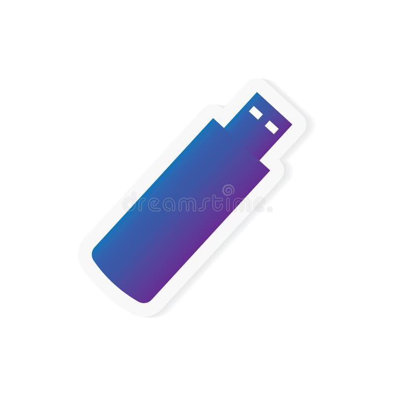 USB pióra przejażdżki błyskowej pamięci ikona ilustracja wektor