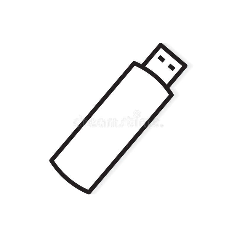 USB pióra przejażdżki błyskowej pamięci ikona ilustracji