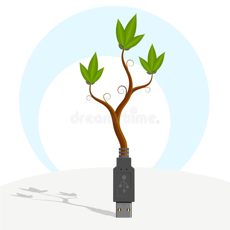 Download USB-plant. Stock Images - Image: 22363234