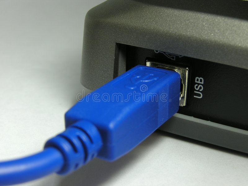 Usb plug royalty free stock images