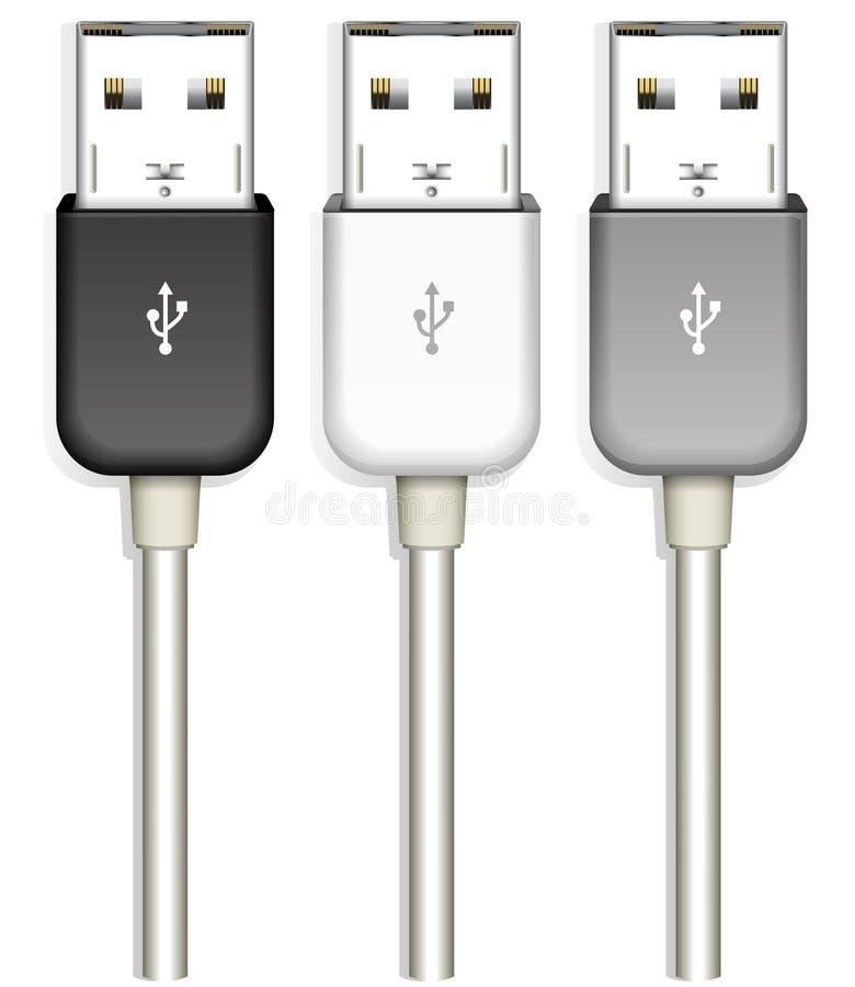 Usb plug. Isolated on white background vector illustration