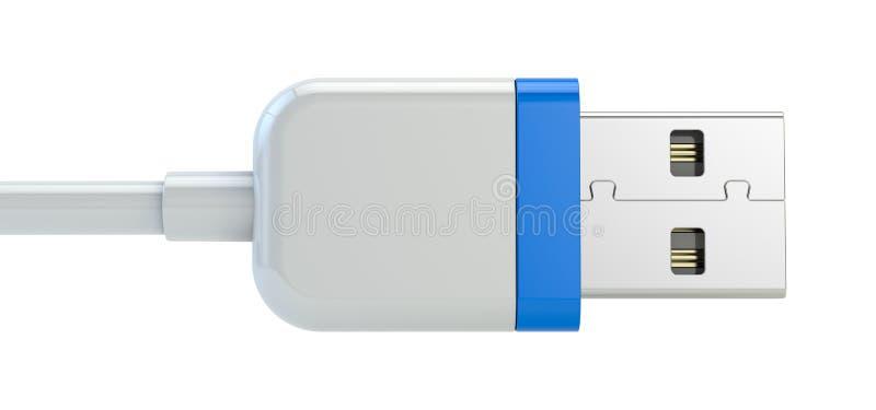 Usb plug. Isolated on white royalty free illustration