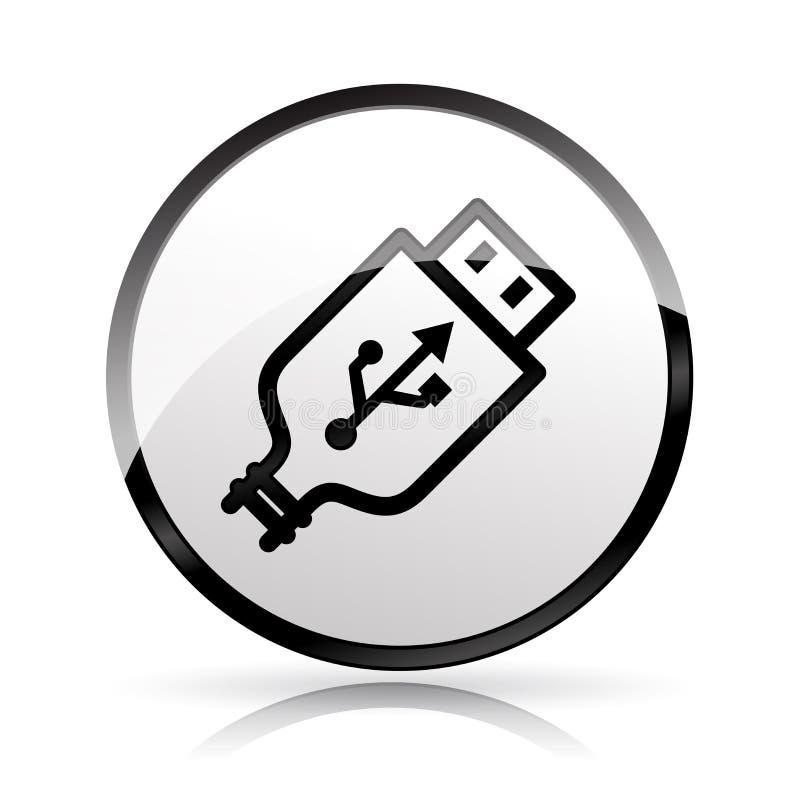 Usb plug icon on white background. Illustration of usb plug icon on white background stock illustration