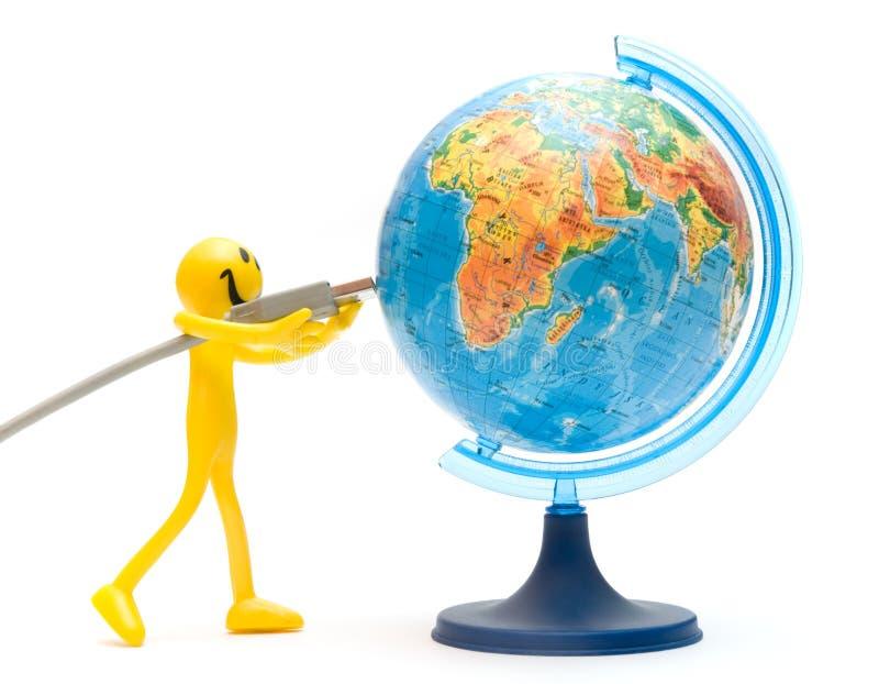 Download USB Plugs Into Earth. Conceptual Stock Image - Image: 11140169