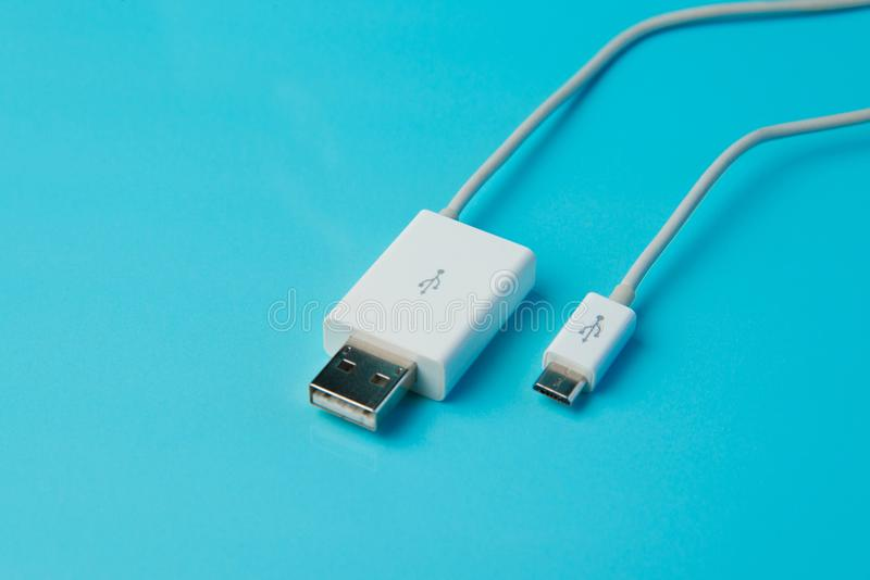 USB-schakelaar stock foto