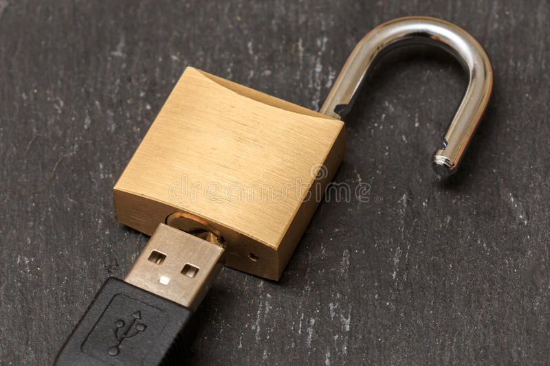 USB security stock images