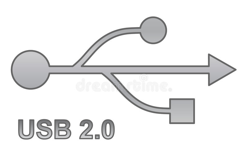 Usb sign for interface electronic hardware royalty free illustration