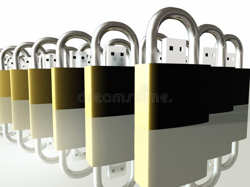 Download Usb-Speicher stock abbildung. Illustration von modem, verschlossen - 9076262
