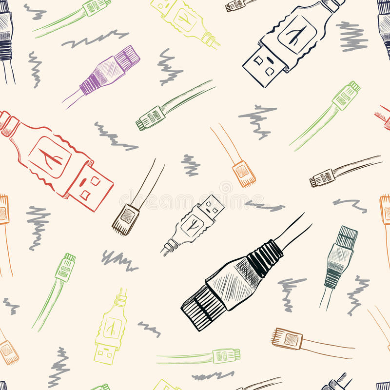 USB texture royalty free illustration
