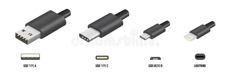 USB typ C ilustracja wektor