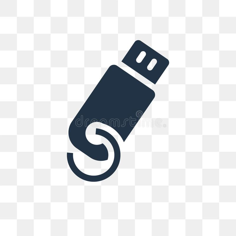 Usb vector icon isolated on transparent background, Usb transpa. Rency concept can be used web and mobile, Usb icon royalty free illustration