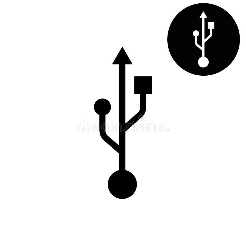 Usb - vit vektorsymbol fotografering för bildbyråer