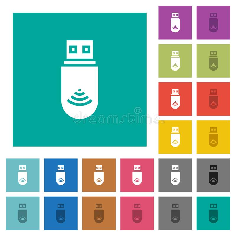 Free USB Wifi Dongle Square Flat Multi Colored Icons Royalty Free Stock Photo - 187884755