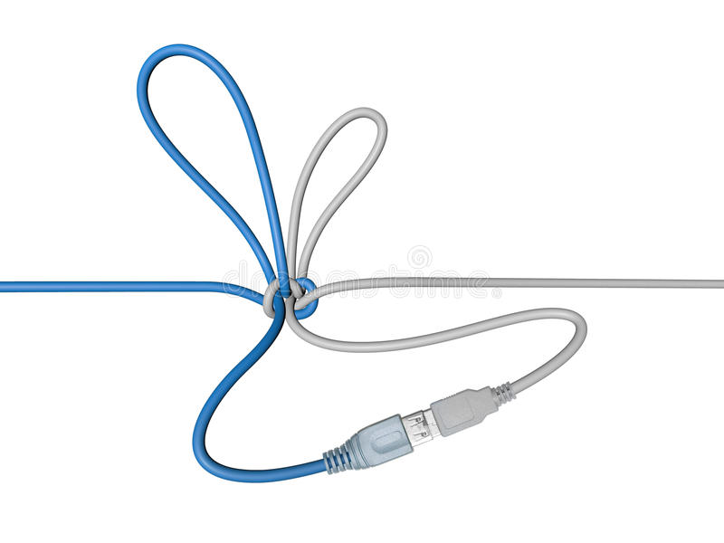 Download USB Wire Tied In A Knot Royalty Free Stock Photos - Image: 20376818