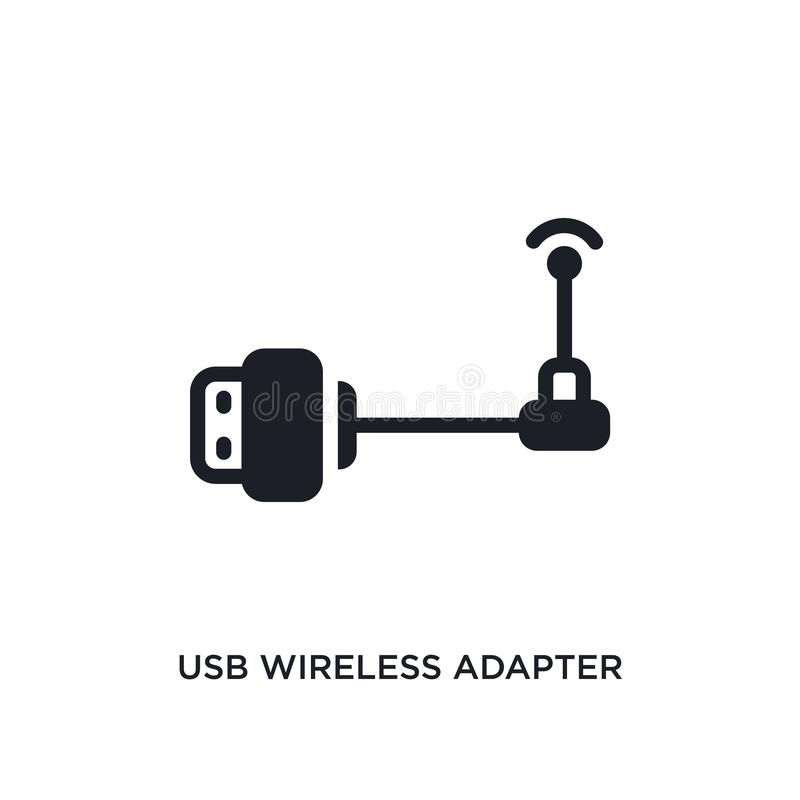 Usb wireless adapter isolated icon. simple element illustration from electronic devices concept icons. usb wireless adapter. Editable logo sign symbol design on royalty free illustration