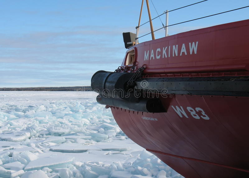 USCGC Mackinaw royalty-vrije stock afbeelding