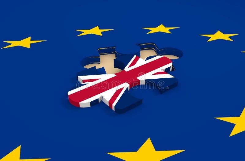 Uscita della Gran-Bretagna dall'immagine del parente dell'Unione Europea illustrazione vettoriale