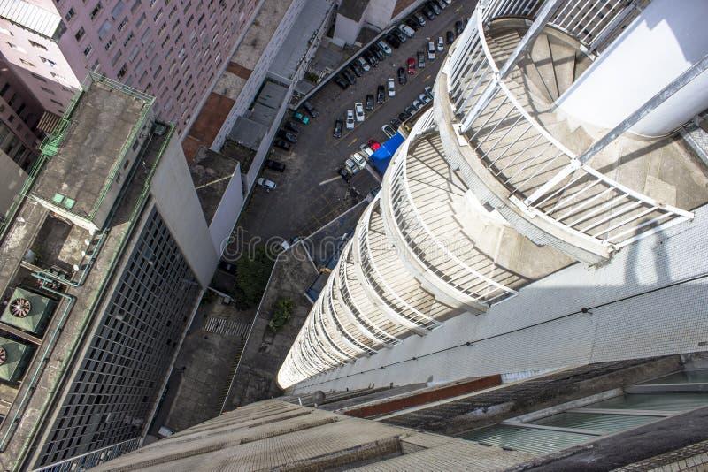 Uscita di sicurezza dall'edificio di Copan immagine stock libera da diritti
