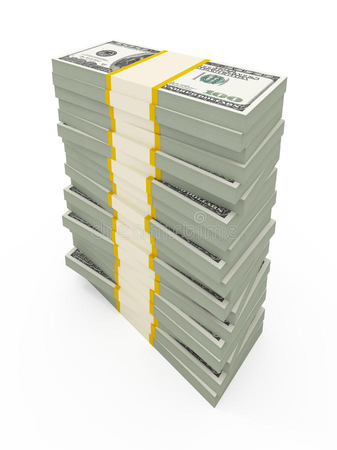 USD de pilas stock de ilustración