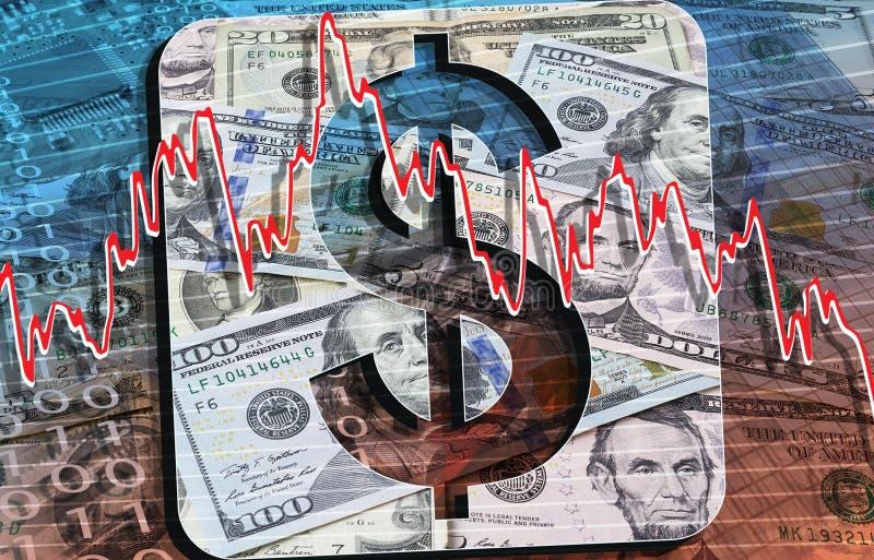 USD monety i banknoty obrazy royalty free