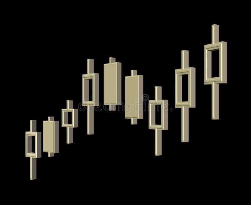 Usd van de grafiek stock fotografie
