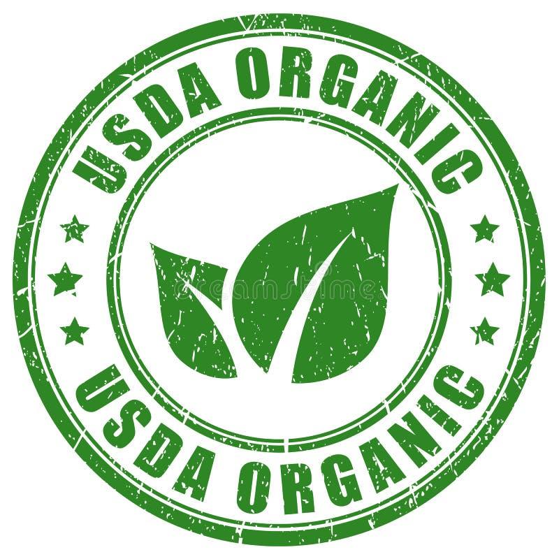 USDA有机绿色邮票 库存例证
