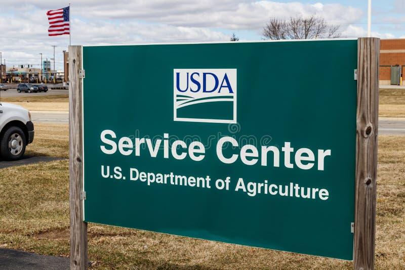 USDA-de Dienstcentrum Het Ministerie van de V.S. van Landbouw is verantwoordelijk voor wetten met betrekking tot de landbouw, bos royalty-vrije stock foto's