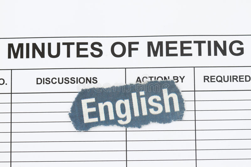 Download Use English Word only stock photo. Image of minutes, speak - 27710448
