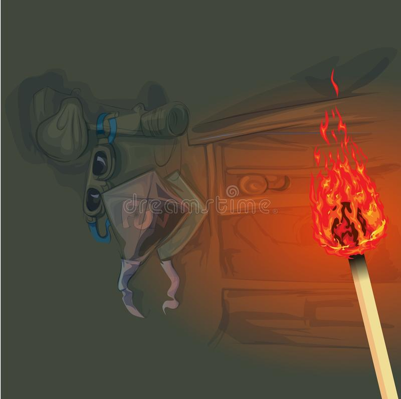 Download Use of fire lighting stock vector. Illustration of illustration - 31678559