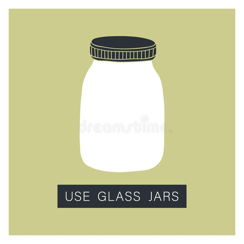 Use glass jar. Zero waste concept stock photography