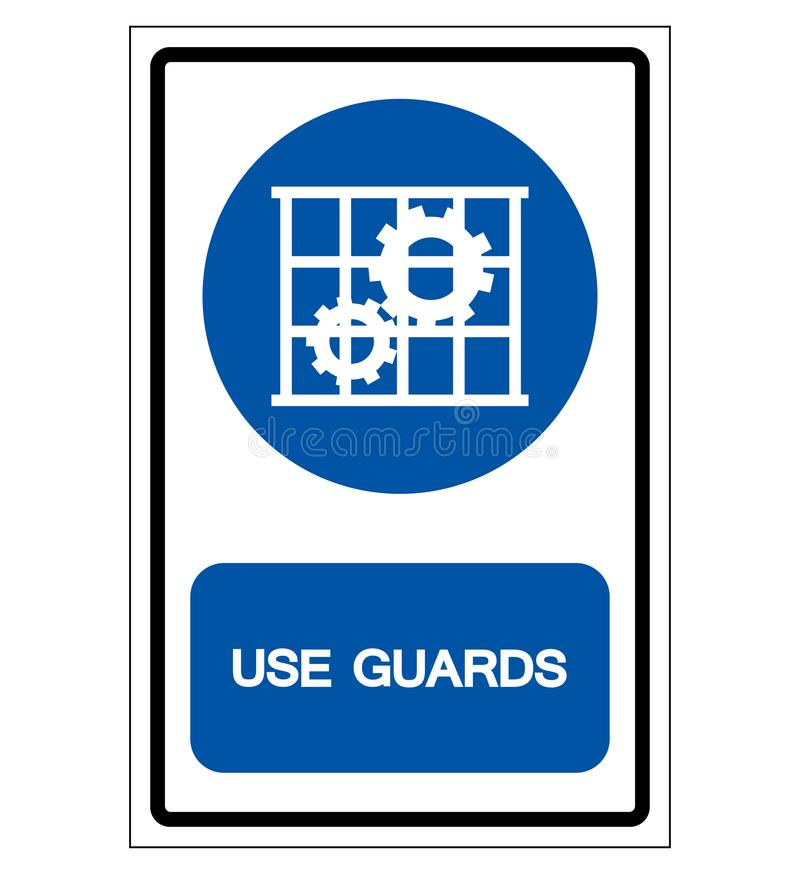 Use Guards Protection Symbol Sign,Vector Illustration, Isolate On White Background Label .EPS10 vector illustration