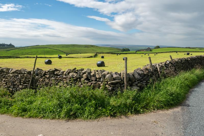 The Old road above Settle royalty free stock photos
