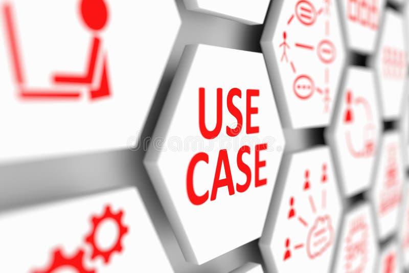 USE o conceito do CASO ilustração stock