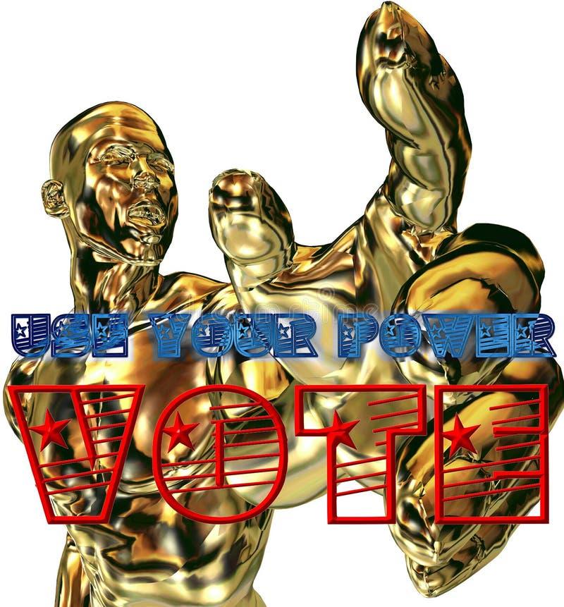 Use seu voto imagem de stock royalty free