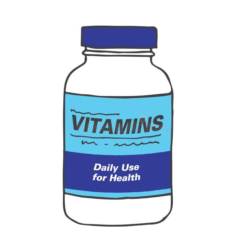 Daily Use Vitamins or Multi-Vitamin vector illustration