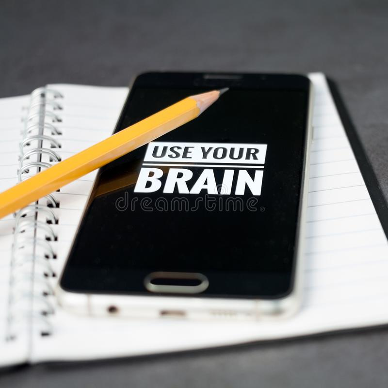 Use your brain concept royalty free stock images