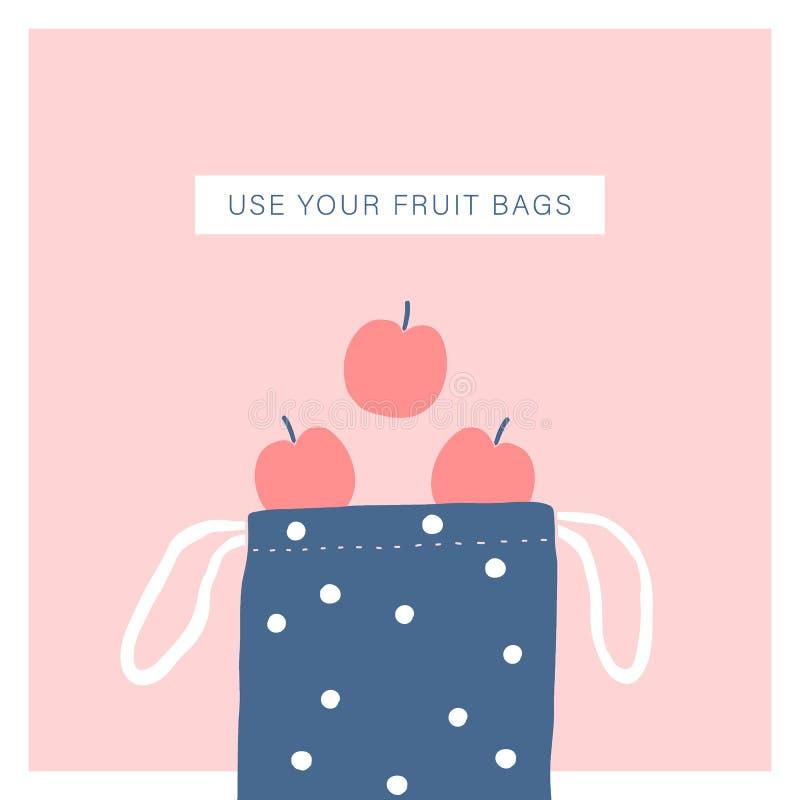 Use your fruit bag. Zero waste lifestyle stock photo