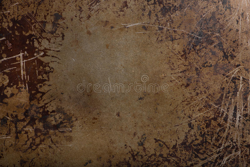 Used baking tray or pan as background object. Used baking tray as background object, top view, horizontal stock image