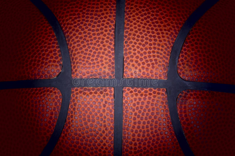 Used basketball. royalty free stock images