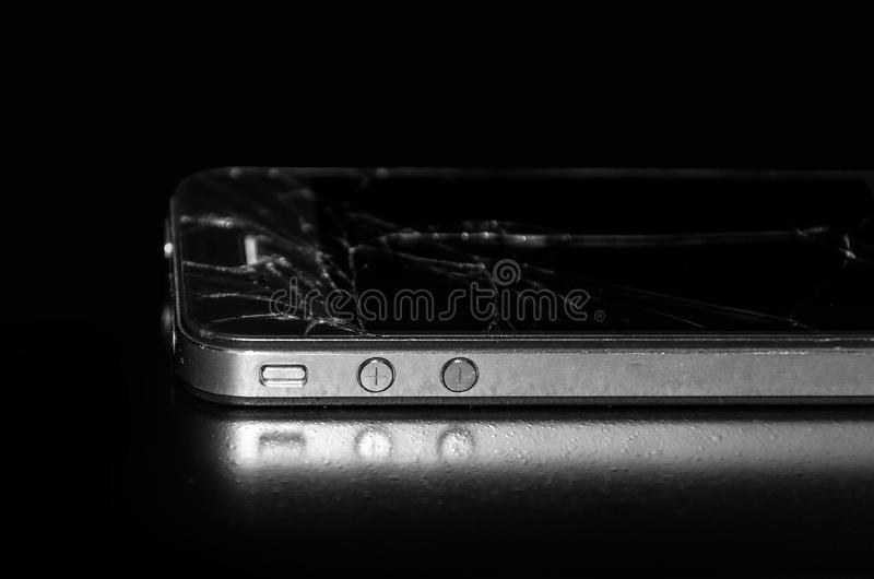Used and broken Apple IPhone 4S royalty free stock photography