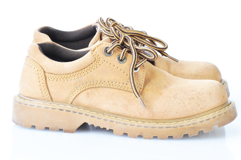 Download Used brown walking shoes stock image. Image of accessories - 20633273