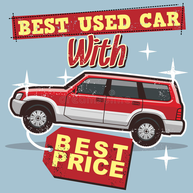 Used car poster royalty free illustration